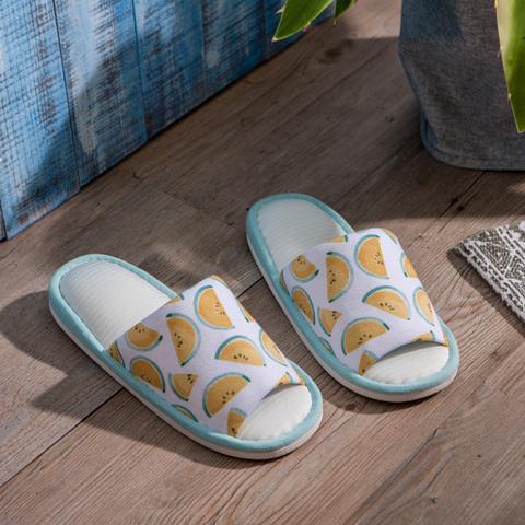 西瓜派對涼感拖鞋-黃M