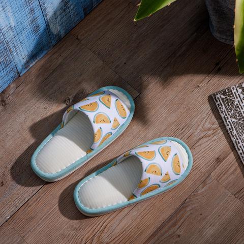 西瓜派對涼感拖鞋-黃L