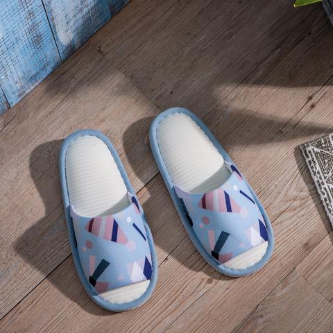 北歐奇趣涼感拖鞋-藍M