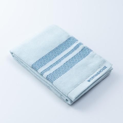 More清新棉柔浴巾-靜灰藍